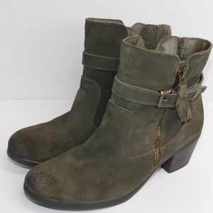 """Earth Origins """"Tori"""" Green Suede  Ankle Boot"""